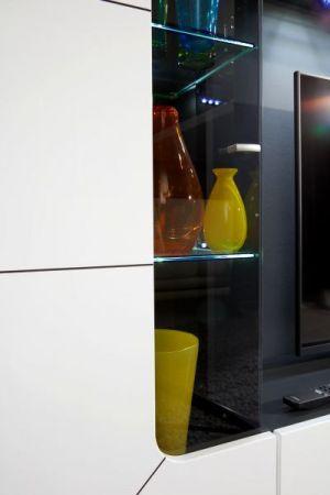 Wohnwand Sprint weiß Hochglanz Fernsehschrank 250 cm Medienmöbel