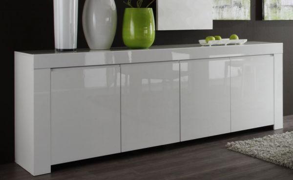 """Kommode """"Livorno"""" in weiß Hochglanz lackiert - Sideboard 210 x 84 cm"""