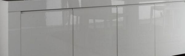Sideboard Kommode weiß echt Hochglanz Lack Italien 210 cm Livorno