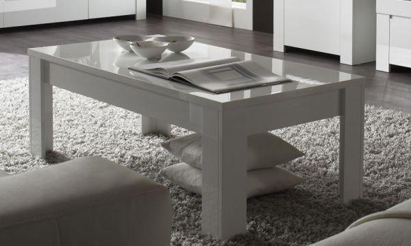 Tisch Couchtisch weiss Hochglanz Lack 122 x 65 Vienda