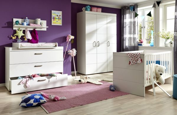 Babyzimmer Wickelkommode Luca-S in matt weiß 115 x 105 cm