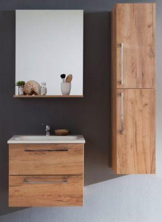 Badmöbel Intenso Eiche Trüffel Melamin Set 110 cm 4-teilig Waschtisch inkl. Waschbecken