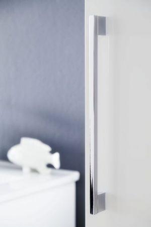 Bad Hängeschrank Hochschrank Intenso Lack Hochglanz weiß 32x140 cm