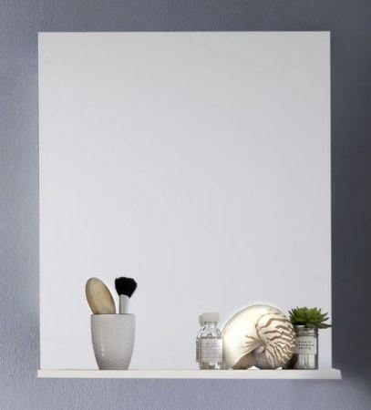 Badezimmer-/Badspiegel Intenso mit Ablageboden Hochglanz weiß 60 x 78 cm