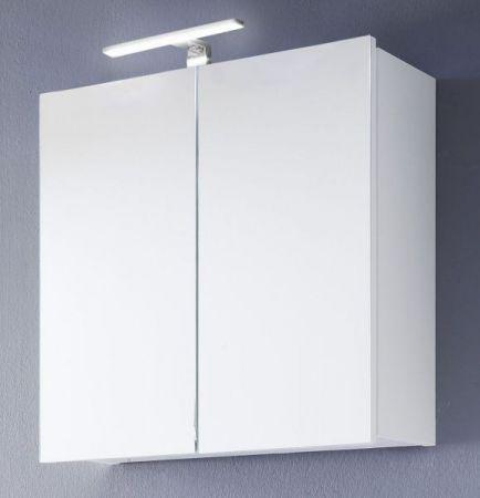 Spiegelschrank Badmöbel Intenso Hochglanz weiß Lack 2-türig 60x60 cm