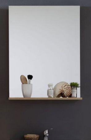 Badezimmer-/Badspiegel Intenso mit Ablageboden Eiche Trüffel 60x78 cm