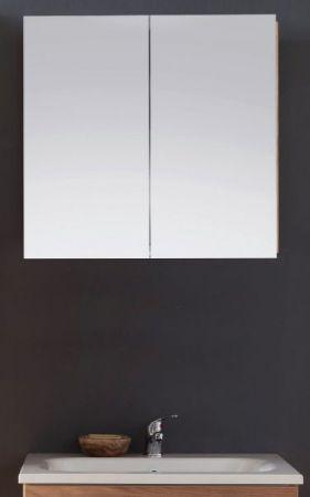 Spiegelschrank Badmöbel Intenso Eiche Trüffel Melamin 60x60 cm