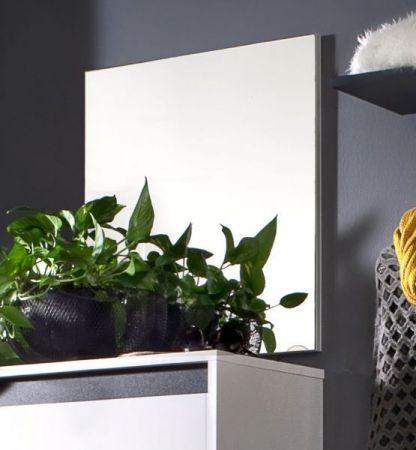 Wandspiegel Garderobe Sol Spiegel weiß 50x56 cm