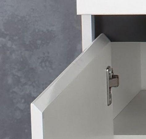 Flur Kommode Schuhschrank Sol Lack Hochglanz weiß und grau Hängeschrank 97x60 cm