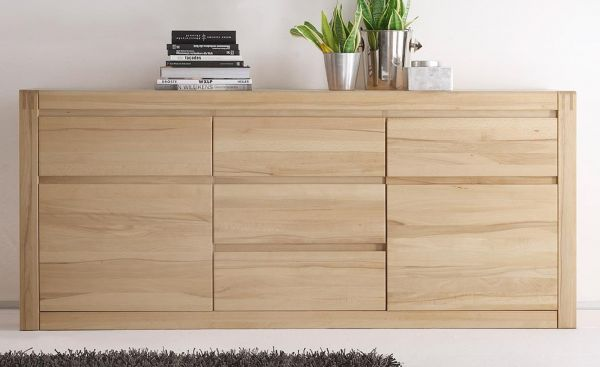 sideboard ponto in eiche massiv 185 cm. Black Bedroom Furniture Sets. Home Design Ideas