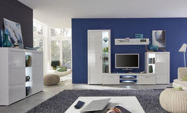 TV-Schrank Lowboard Kito Hochglanz weiß 178 x 59 cm