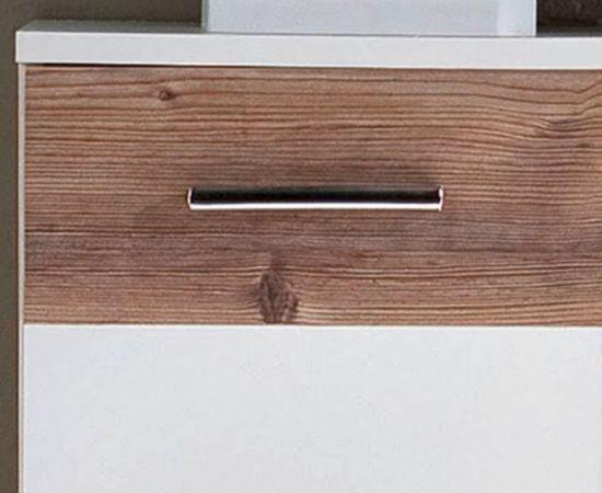 Badmöbel Set Summer weiß mit Bramberg Fichte Badkombination 5-teilig 170 x 194 cm