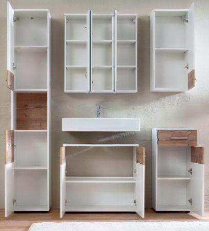 Bad Spiegelschrank Summer in weiß 3-türig 70 cm