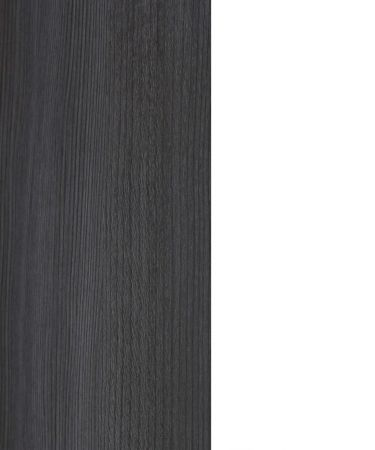 Badmöbel Set California 2-teilig in weiß und Sardegna grau Rauchsilber mit Spiegelschrank und Waschbeckenunterschrank 60 x 180 cm