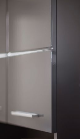 Bad Unterschrank Kommode Amanda Hochglanz grau Badschrank 37 x 79 cm