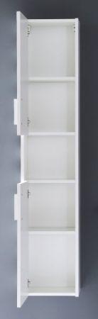 Bad Hochschrank Jersey in Hochglanz weiß Badezimmer Hängeschrank 30 x 148 cm