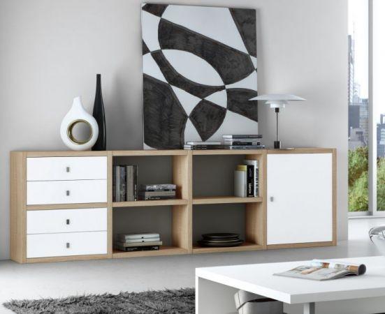 Sideboard Lack weiß matt Breite 241 cm