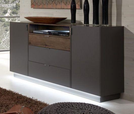 sideboard atlanta in terra grau und monastary oak. Black Bedroom Furniture Sets. Home Design Ideas