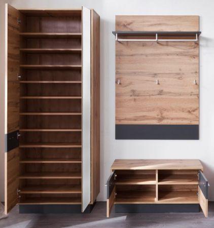 10er Set Einlegeböden für Garderobenschrank Schuhschrank Coast in Wotan Eiche Dekor 66 x 30 cm