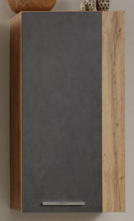 Hängeschrank Rock in Matera Anthrazit und Wotan Eiche 52 x 103 cm Wohnzimmer