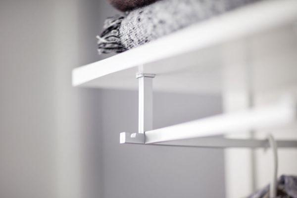 Garderobenset 5-teilig weiß Ole Garderobe komplett mit Schuhbank und Schrank 270 cm