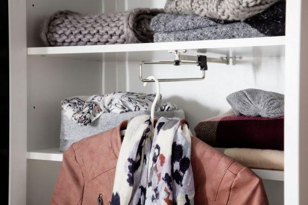Garderobenschrank Ole in weiß Garderobe oder großer Schuhschrank 92 x 192 cm