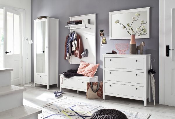 Garderobenschrank Ole in weiß Garderobe oder großer Schuhschrank 62 x 192 cm