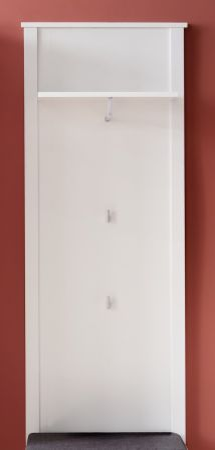 Garderobenpaneel Ole Wandgarderobe in weiß Flurgarderobe 55 x 147 cm