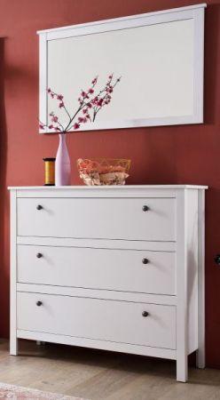 Flurgarderobe Wandspiegel Ole in weiß Garderobenspiegel 91 x 62 cm