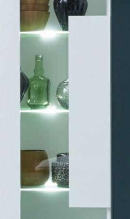 Wohnwand Jump in weiß Glanz 265 x 182 cm Schrankwand 4-teilig