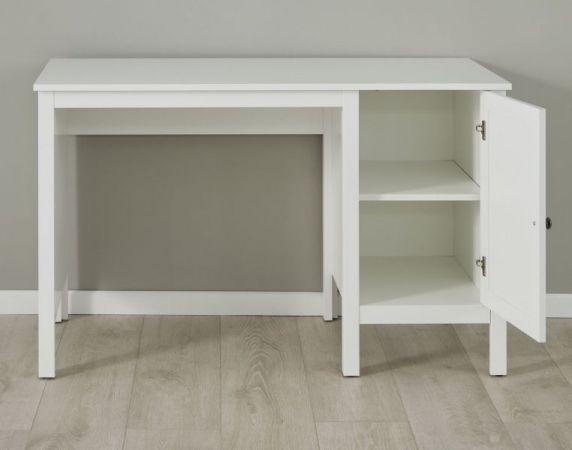 Kinderzimmer Jugendzimmer Schreibtisch Ole mit Unterschrank in weiß 115 x 75 cm