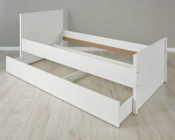Jugendzimmer Kinderzimmer Bett Ole in weiß Liegefläche 90 x 200 cm