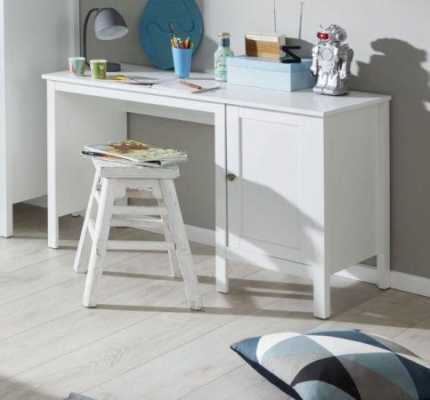 Kinderzimmer Jugendzimmer komplett Set Ole 4-teilig in Landhaus weiß mit Bett Schrank Schreibtisch und Nachttisch