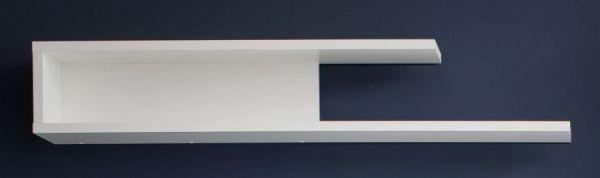 Wandboard Wandregal Kuba in weiß Glanz 120 x 20 cm