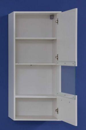 Hängevitrine Kuba in weiß Glanz Hängeschrank 50 x 112 cm