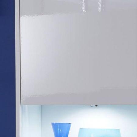 Highboard Kommode Kuba in weiß Glanz 150 x 123 cm