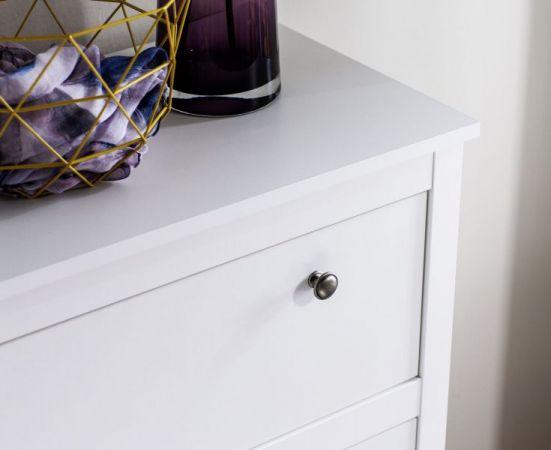 Kommode Ole in weiß Sideboard für Flur Esszimmer und Wohnzimmer Anrichte 183 x 98 cm