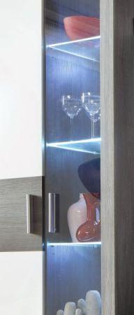 Wohnwand Mega in Sardegna grau und weiß Schrankwand 301 x 193 cm inkl. Beleuchtung