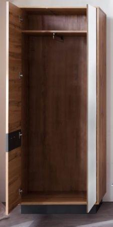 Flur Garderobe Coast Wotan Eiche Dekor und grau Garderobenset komplett 5-teilig 252 cm inkl. Beleuchtung