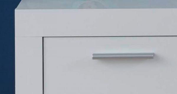 Garderobe Kito in Hochglanz weiß 4-teiliges Garderobenset mit Schuh- / Garderobenschrank und Wandpaneel 254 x 200 cm