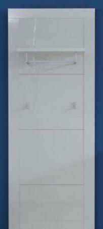 Wandgarderobe Garderobenpaneel Kito in Hochglanz weiß Flurgarderobe 53 x 155 cm