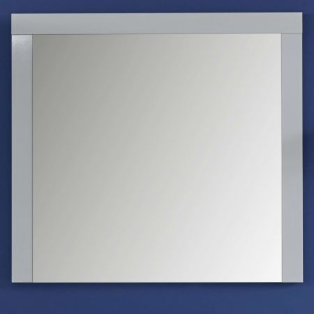 Flur Wandspiegel Kito in weiß Hochglanz Garderobenspiegel 103 x 86 cm