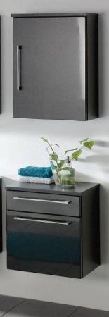 Badezimmer Hängeschrank Heron in Hochglanz Anthrazit Badschrank 40 x 68 cm