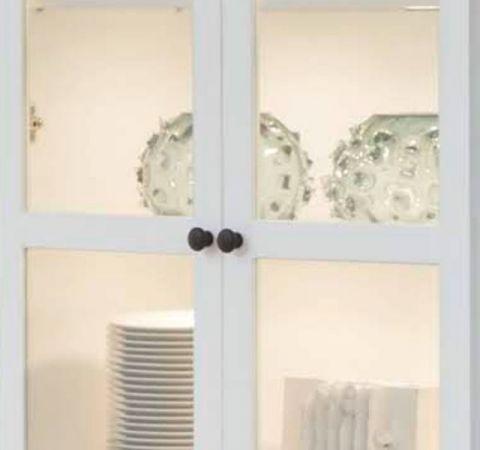 Wohnwand Baxter 2-teilig in weiß Landhaus Schrankwand 235 x 196 cm
