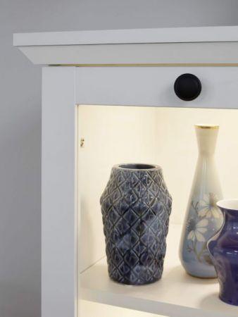 """Wohnwand """"Baxter"""" 4-teilig in weiß im Landhausstil 369 x 196 cm"""