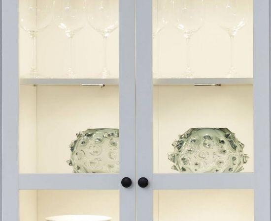 Wohnwand Baxter 3-teilig in weiß Landhaus Schrankwand 273 x 196 cm
