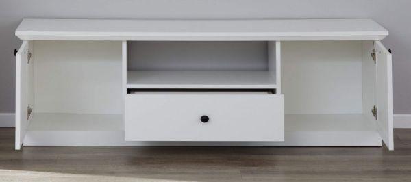 TV-Lowboard Baxter in weiß Landhaus Fernsehtisch 140 x 49 cm