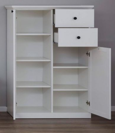 Highboard Baxter in weiß Landhaus Kommode 81 x 129 cm