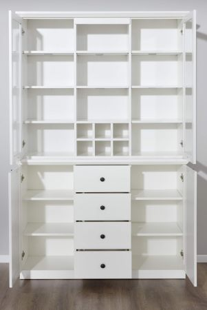 """Buffetschrank """"Baxter"""" in weiß im Landhausstil (120 x 194 cm)"""