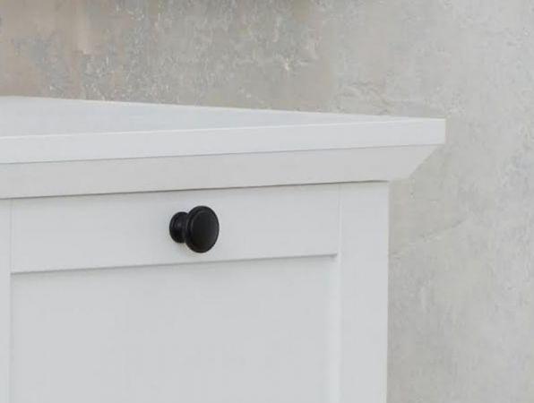 Garderobe Baxter 3-teilig in weiß Landhaus Garderobenset mit Wandpaneel, Schuhbank und Kommode 177 x 196 cm